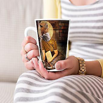 Heilige Fox Art beest dierlijke nieuwe witte thee koffie keramische Latte Mok 17 oz | Wellcoda