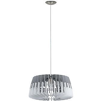 Eglo plafond hanger met enkele lichte Dia: 480 grijs wit/matte nikkel Artana