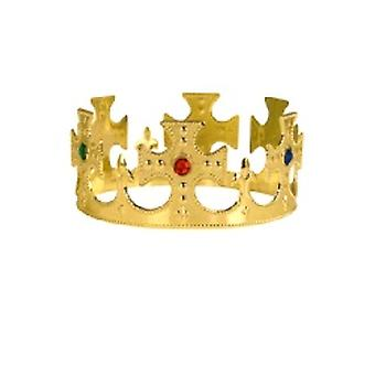 Gold Crown Prom King / Reine plastique Jeweled King (1)