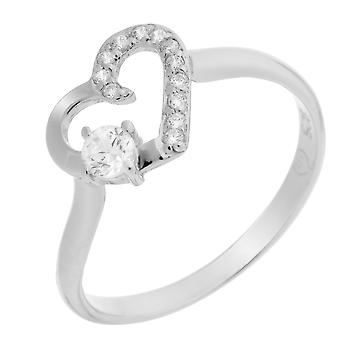 Orphelia Silber 925 Ring Herz Zirkon ZR-7080