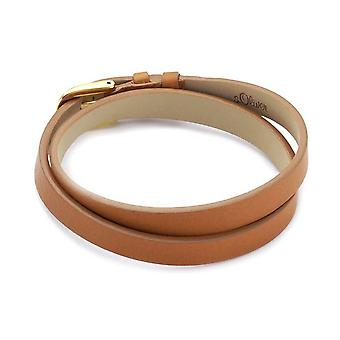 s.Oliver jewel ladies bracelet stainless steel Leather Brown B2BE/1 – 378789