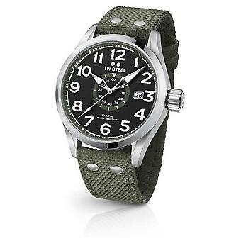TW Mens acier armée Volante verte 45mm VS21 Watch