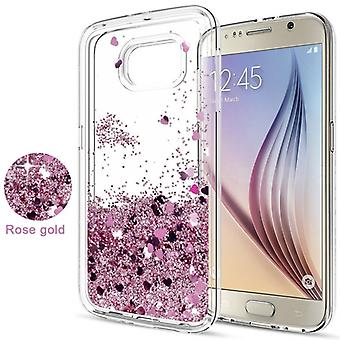 Galaxy S6-Floating Glitter 3D Bling Skin Hoes