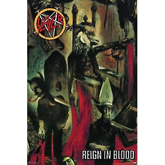 Slayer Reign In Blood Poster Poster Print