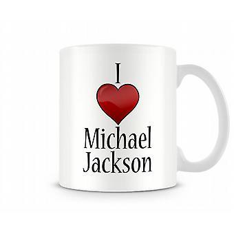 Jeg elsker Michael Jackson trykte krus