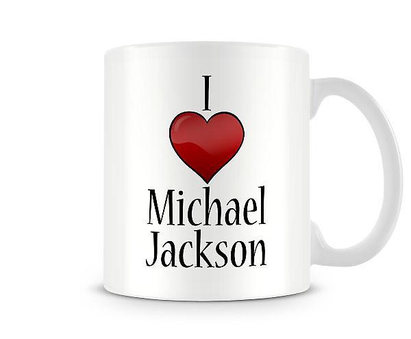 Ik hou van Michael Jackson bedrukte mok