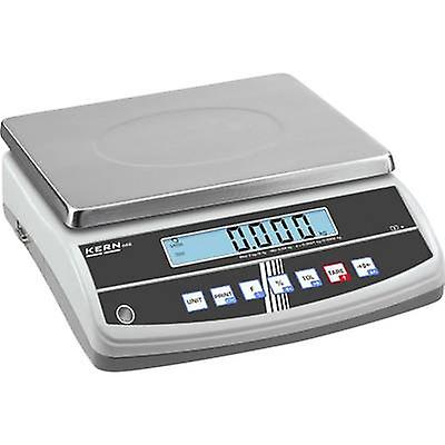 Kern Table top scales Weight range 30 kg Readability 0.2 g mains-powerouge, rechargeable argent