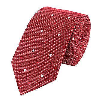 Neck tie necktie ties Binder wide 6cm red/white spotted Fabio Farini