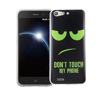 Cas de téléphone portable pour lame ZTE silicone de slim de motif d'affaire sac protecteur de la couverture du V6 TPU ne touchez pas à mon téléphone Grün