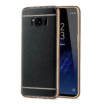 Cell phone case for Samsung Galaxy S8 protection case bumper black leather bag