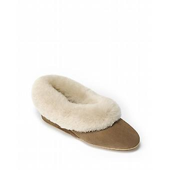 Ladies Seaforth Sheepskin Slippers - Mole