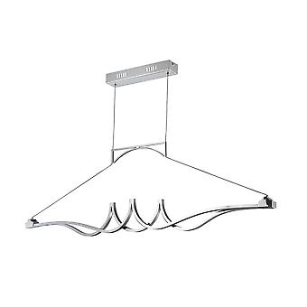 Maytoni Lighting Wave Modern Pendant, Chrome