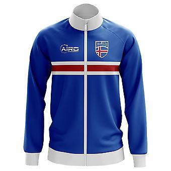 Island-Konzept Fußball Trainingsjacke (blau)