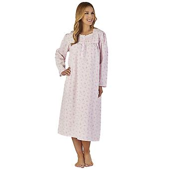Slenderella ND2201 Women's Sprig Polycotton Floral Night Gown Loungewear Nightdress