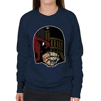 Face Off Judge Dredd und Tod Damen Sweatshirt