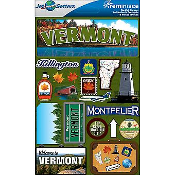 Jet Setters Dimensional Stickers-Vermont