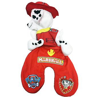 Paw Patrol 2in1 Marshall Reversible Travel Pillow and Plush Toy Red