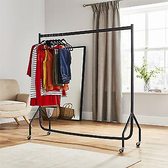 5Ft Tall x 5Ft Long Quality Heavy Duty Steel Hanging Clothes Rail