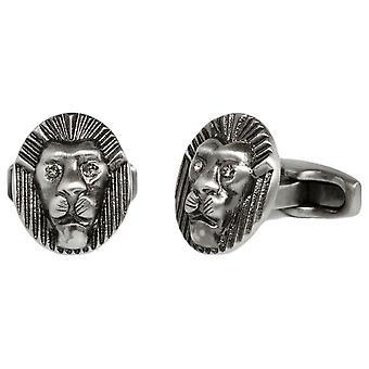 Simon Carter Lion Head Cufflinks - Grey
