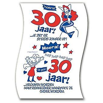 Toiletpapier 30jaar vrouw nr07