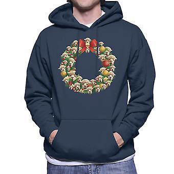 Natale corona Multi lama felpa con cappuccio