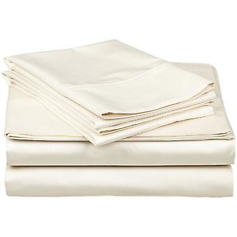 1200 Tc-100% Egyptian Cotton Bed Sheet Set-ivory