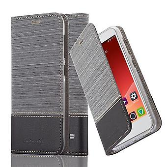 Cadorabo case for ZTE blade S6 - mobile case with stand function and compartment in the fabric design - case cover sleeve case bag book