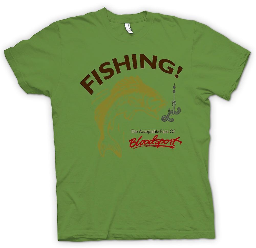 Heren T-shirt - visserij aanvaardbaar Bloodsport - Funny