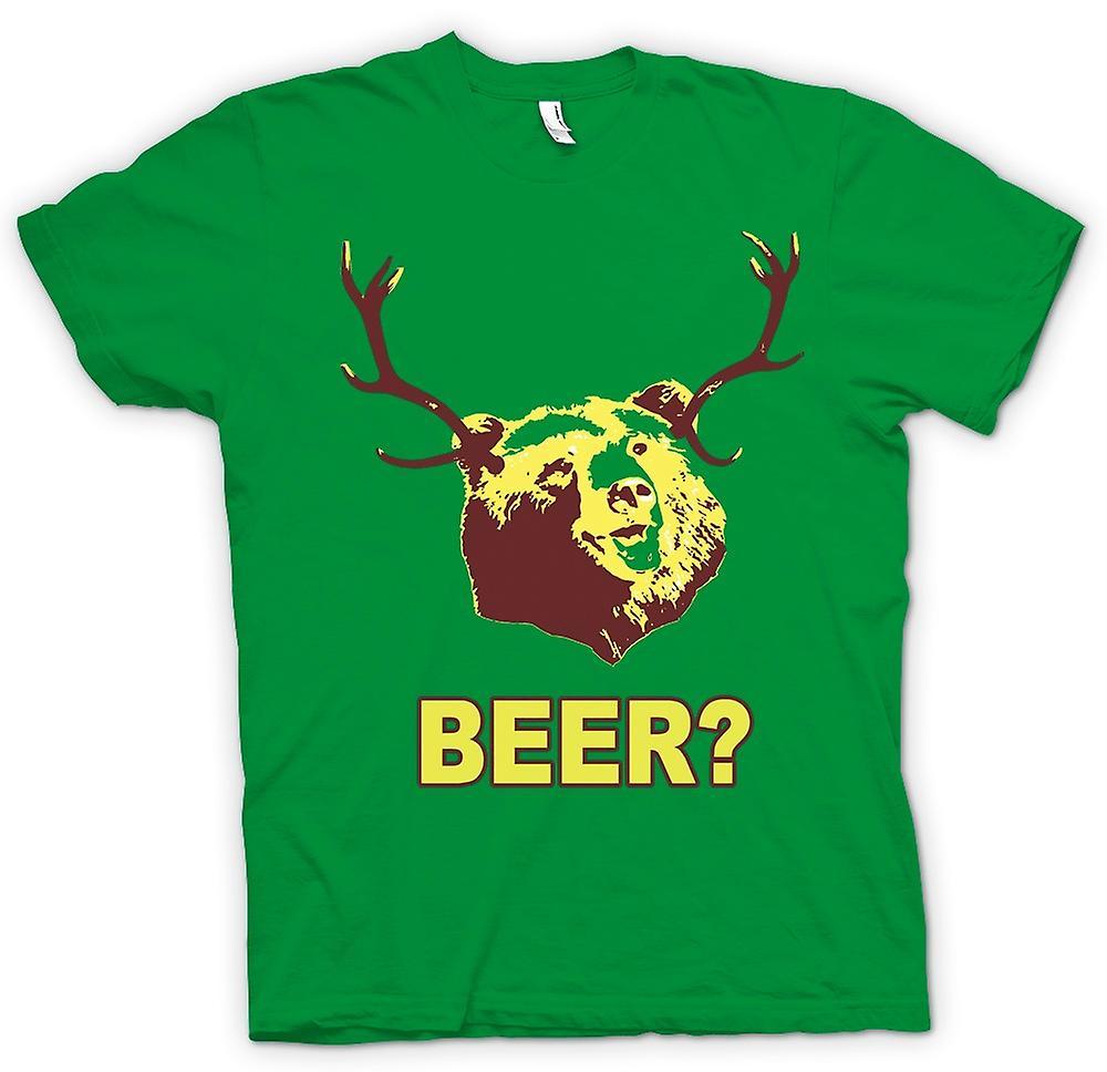 Mens t-shirt - birra orso divertente bere