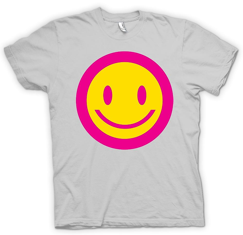 L'acide Mens T-shirt - visage de Smiley rose - enfants