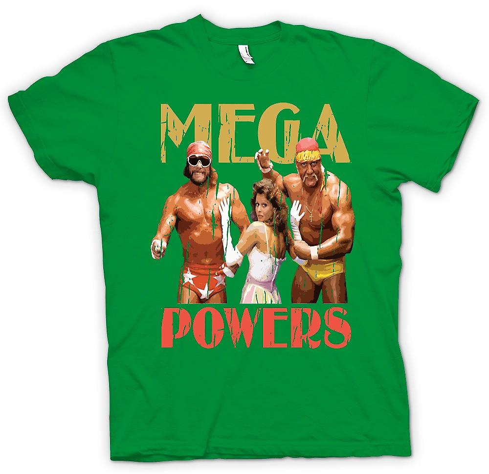 Heren T-shirt - Mega Powers - Hulk worstelen