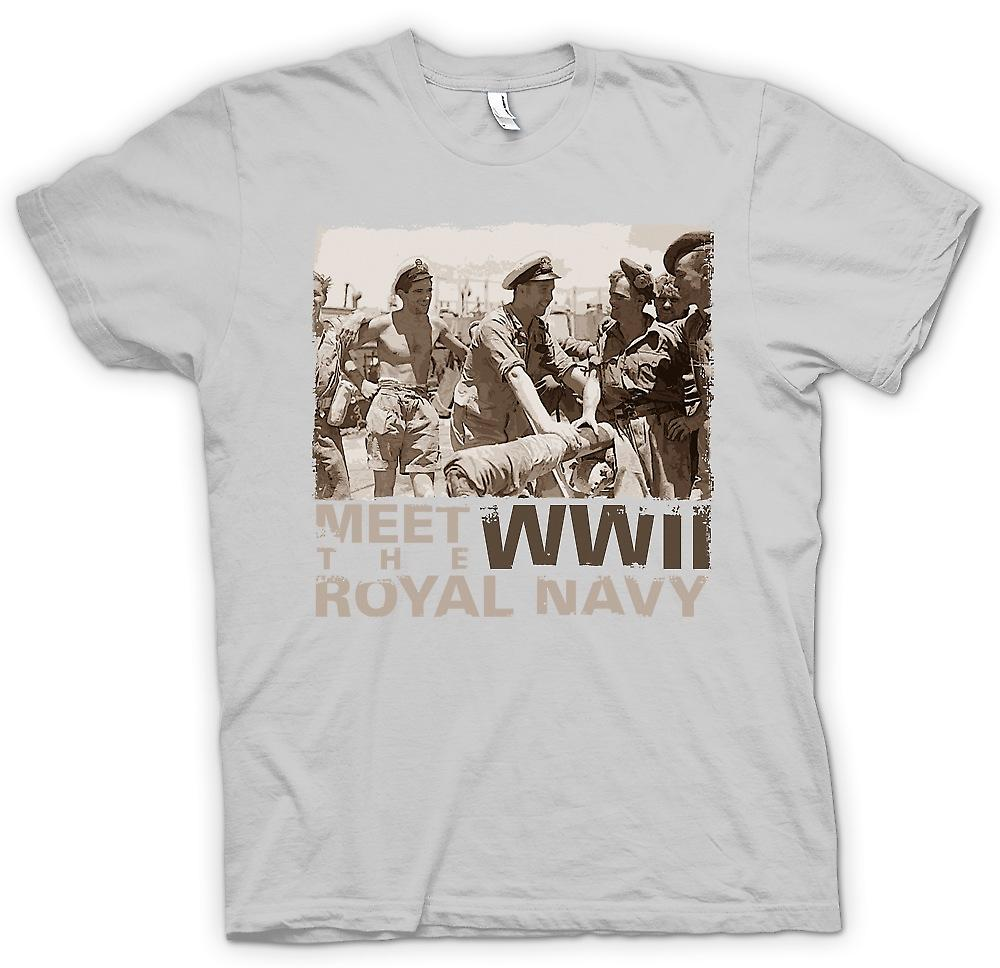 Mens T-shirt - Meet The Royal Navy WW2