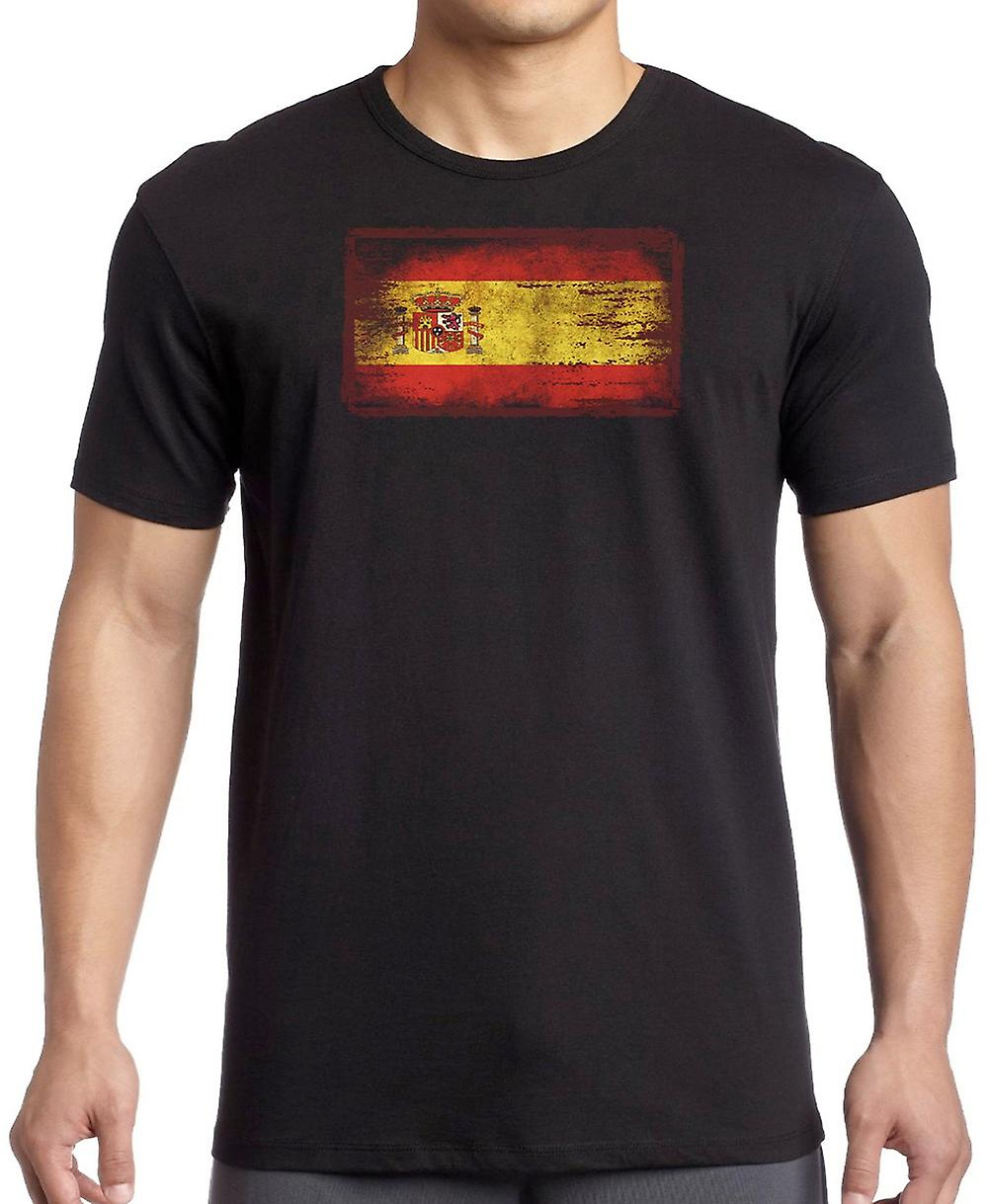 Spanish Sapin Grunge Flag T Shirt