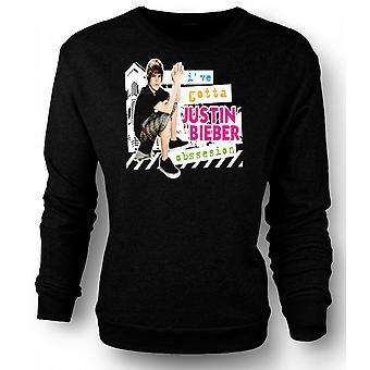 Mens Sweatshirt Justin Bieber Obsession