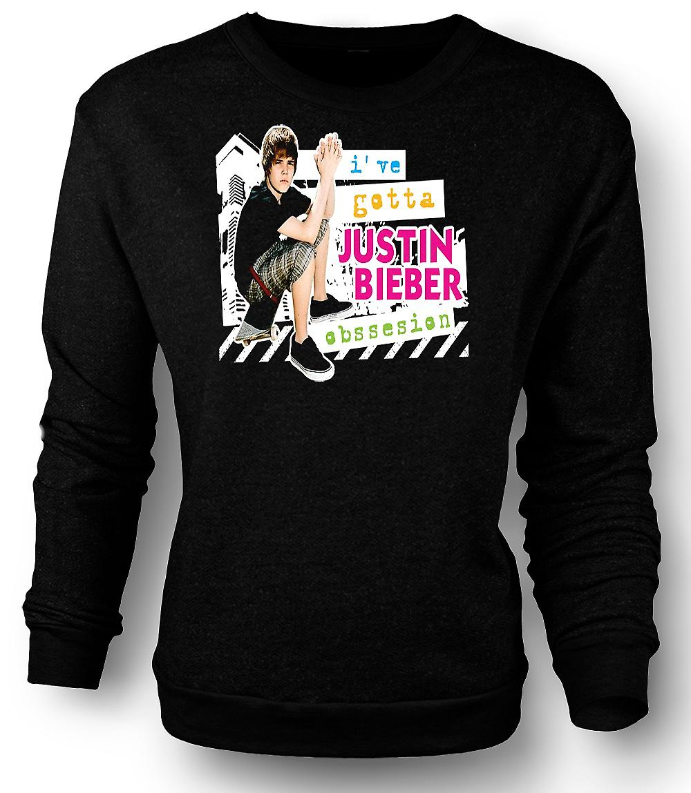 Sudadera para hombre Justin Bieber obsesión