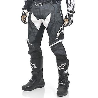 Alpinestars Black-White 2011 Techstar MX Pant