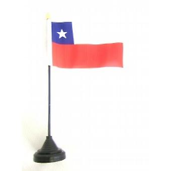 Chile Table Flag with Base and Stick