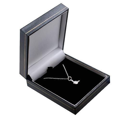 Silver 10x10mm Hairdressers Hair Dryer Pendant with a rolo Chain 14 inches Only Suitable for Children