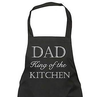 Papá, rey de la cocina negro delantal