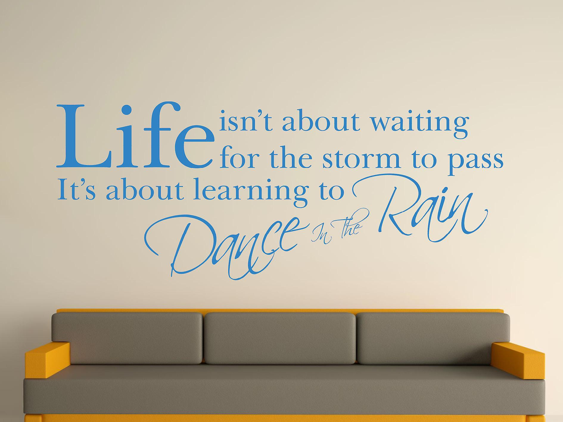 Dance In The Rain Wall Art Sticker - Olympic Blue