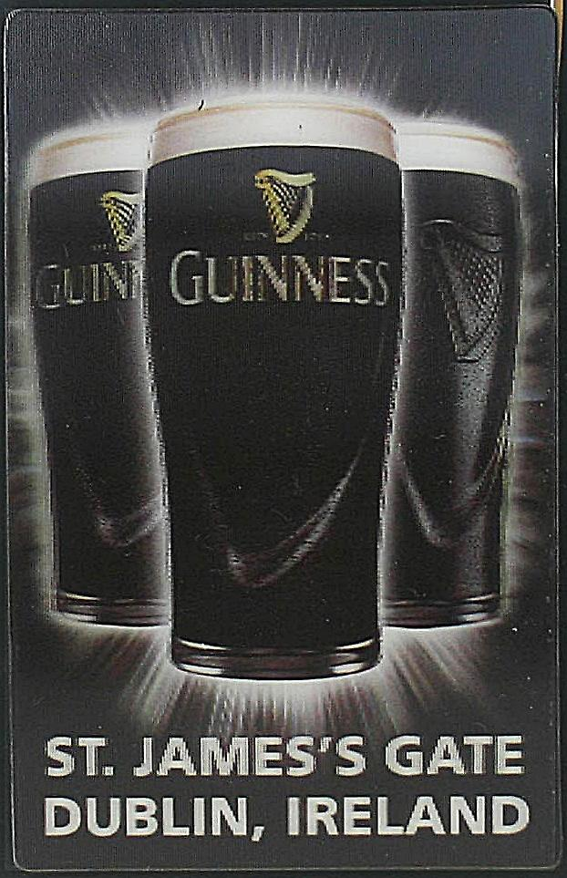Guinness 3D fridge magnet - Pint Glasses (sg)