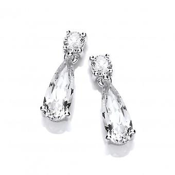 Cavendish French Silver and CZ Beauty Drop Earrings
