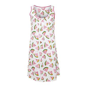Cyberjammies 4148 Women's Pippa White Watermelon Print Night Gown Loungewear Nightdress