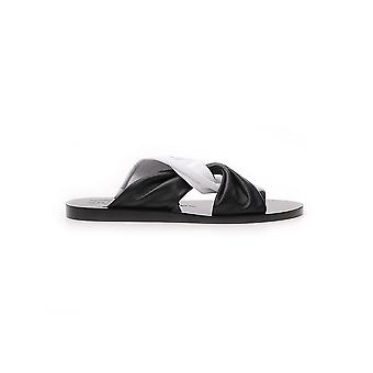 Givenchy White/black Leather Sandals