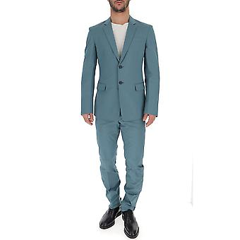 Prada Petrol Cotton Suit