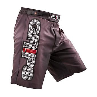 Grips Athletics Mens Jarama Black Carbon Fight Shorts - Black