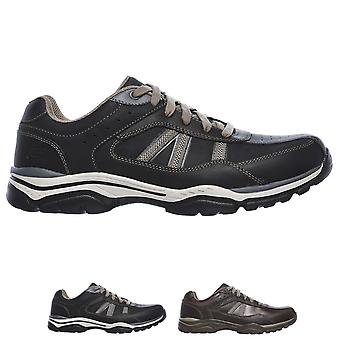 Mens Skechers Rovato Texon Relaxed Fit Memory Foam Outdoor Hiker Trainer