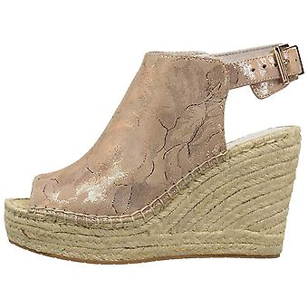 Kenneth Cole New York Womens 7 Olivia Peep Toe Special Occasion Espadrille Sa...