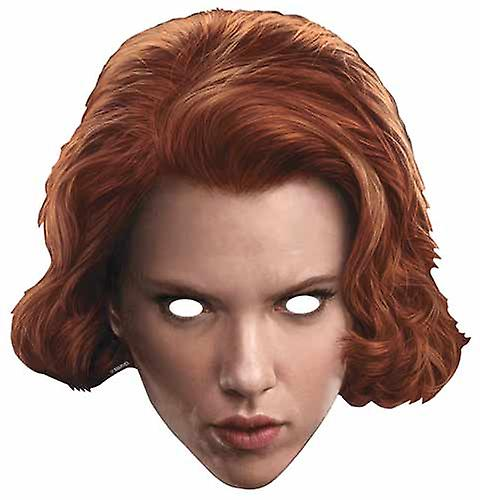 Black Widow Avengers Age of Ultron Single Card Party Face Mask