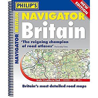 Philipps-2019 Navigator Großbritannien Spiralbindung von Philipps Karten - 97818